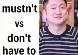تفاوت Mustn't و Don't have to