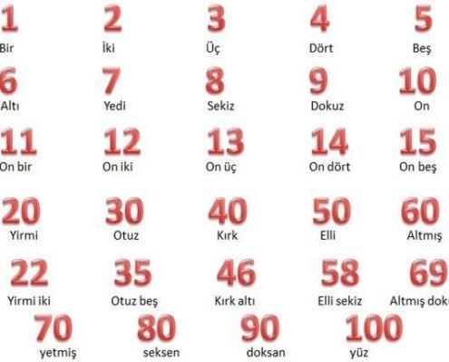 اعداد در زبان ترکی استانبولی