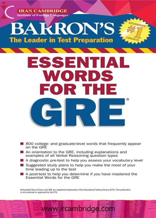کتاب Barron's Essential Words for the GRE