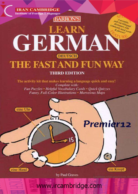"کتاب Learn German "" The fast and sun way"