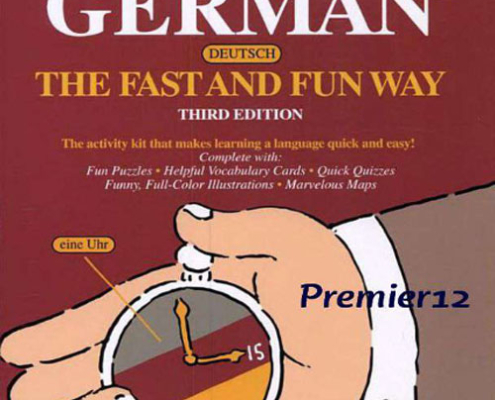 """کتاب Learn German """" The fast and sun way"""