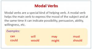 آموزش افعال Modal در زبان انگلیسی