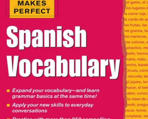 کتاب آموزش لغات زبان اسپانیایی