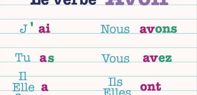 صرف فعل avoir در فرانسه