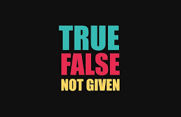 نکات سوالات True-False-Notgiven